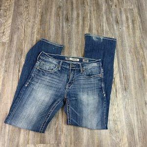 BKE Denim Carter Straight Blue Jeans Size 32 R